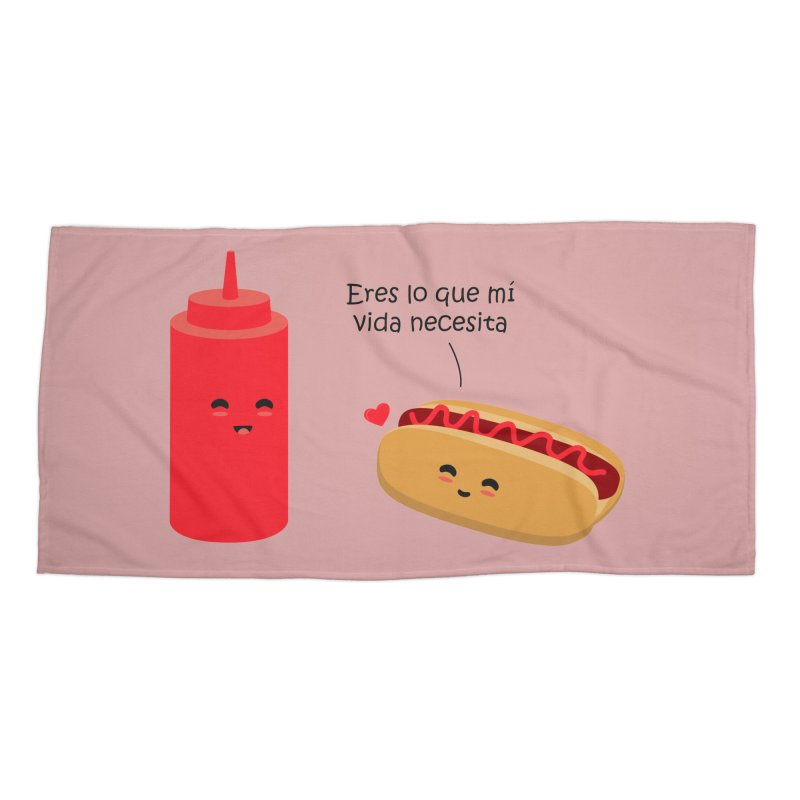 Eres  lo que mi vida necesita Accessories Beach Towel by damian's Artist Shop