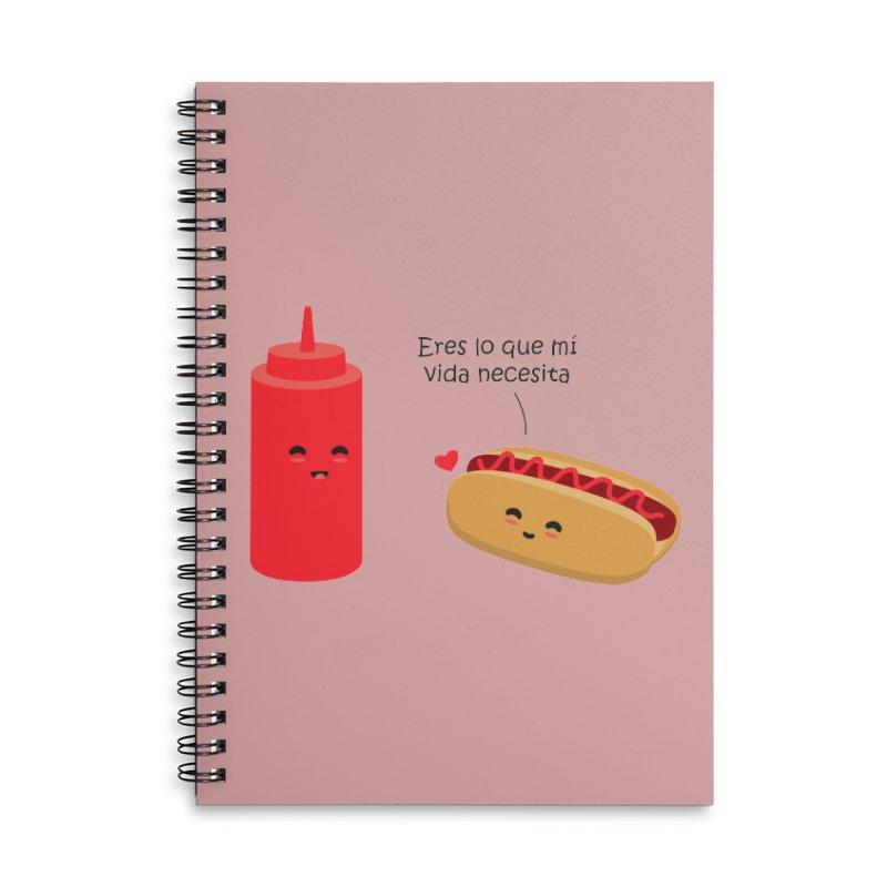 Eres  lo que mi vida necesita Accessories Lined Spiral Notebook by damian's Artist Shop