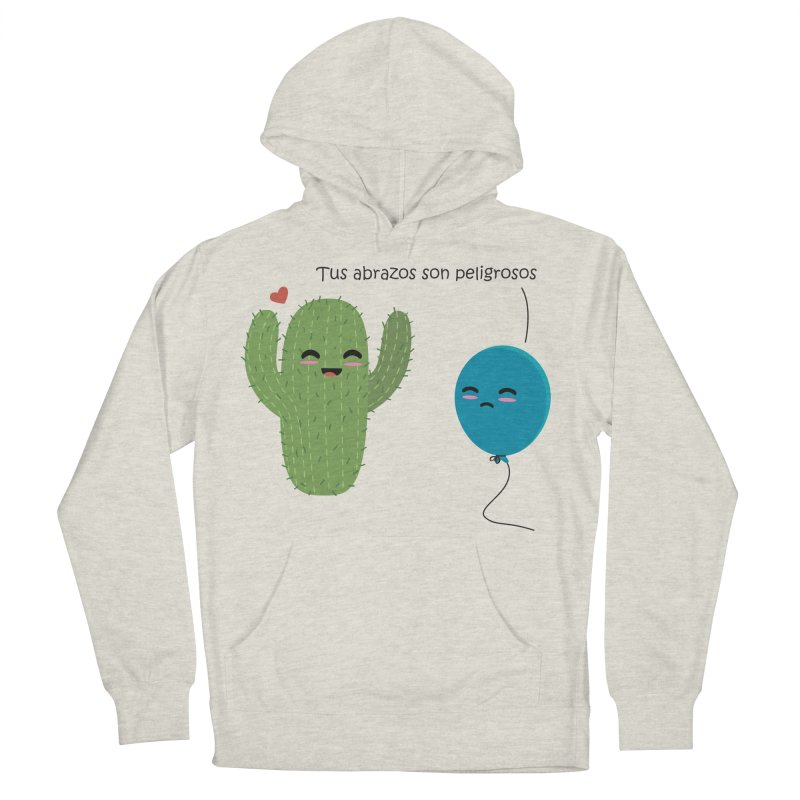 Tus abrazos son peligrosos Men's French Terry Pullover Hoody by damian's Artist Shop