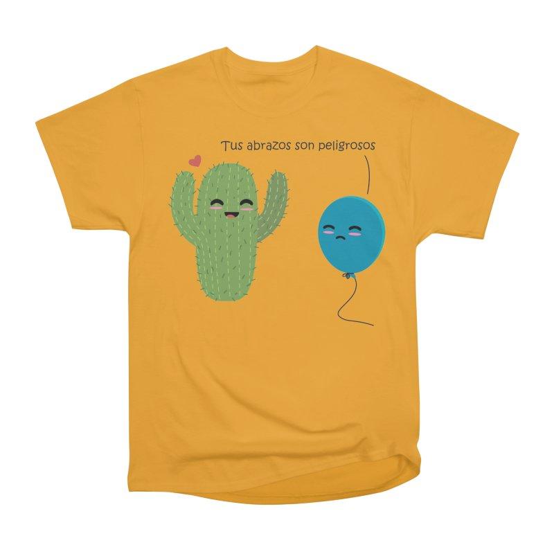 Tus abrazos son peligrosos Men's Heavyweight T-Shirt by damian's Artist Shop