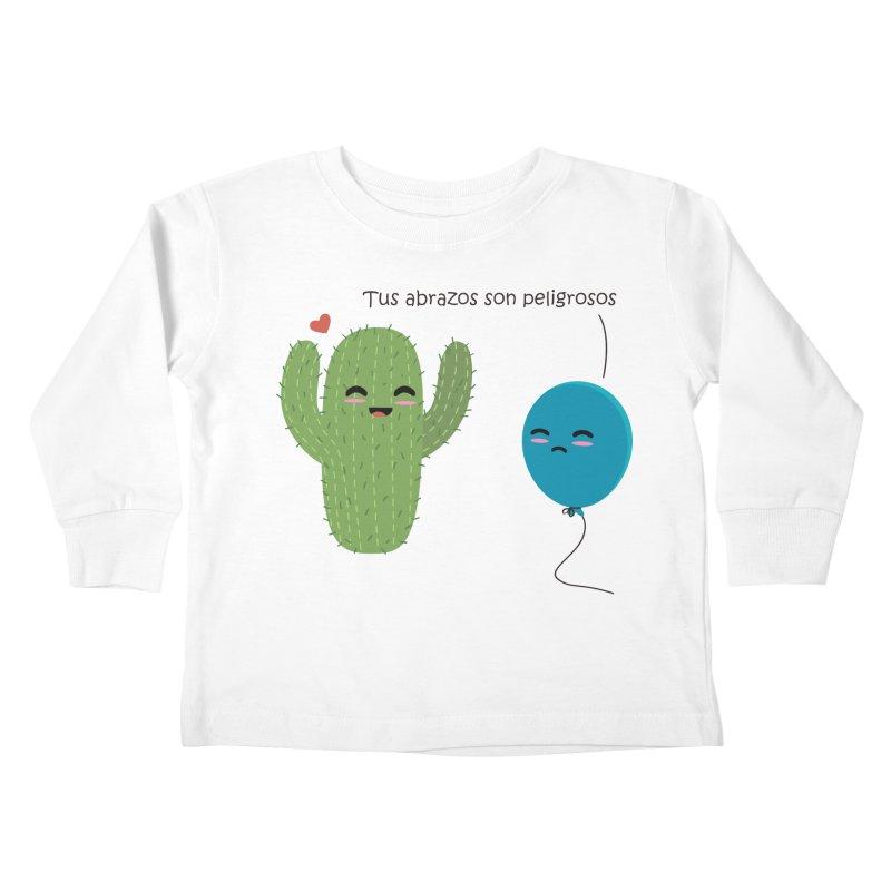 Tus abrazos son peligrosos Kids Toddler Longsleeve T-Shirt by damian's Artist Shop