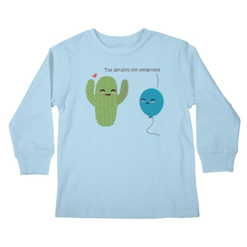 Tus abrazos son peligrosos Kids Longsleeve T-Shirt by damian's Artist Shop