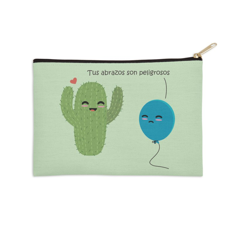 Tus abrazos son peligrosos Accessories Zip Pouch by damian's Artist Shop