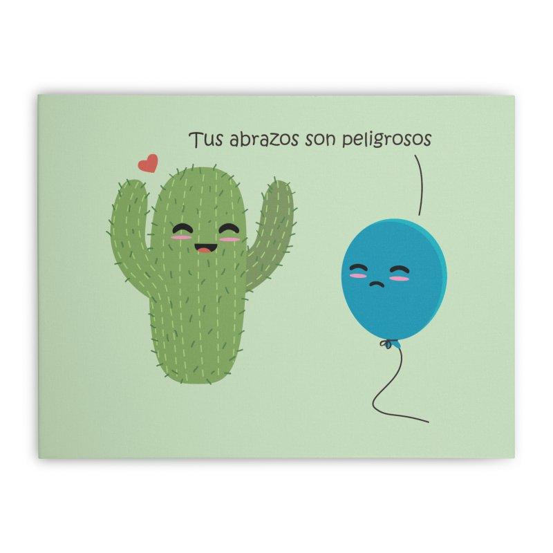 Tus abrazos son peligrosos Home Stretched Canvas by damian's Artist Shop