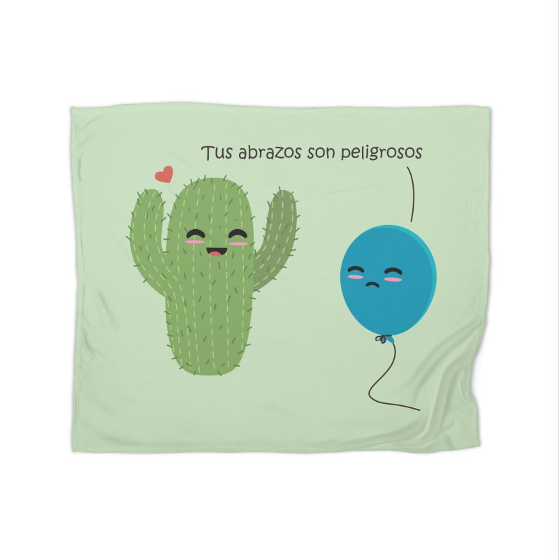 Tus abrazos son peligrosos Home Fleece Blanket Blanket by damian's Artist Shop