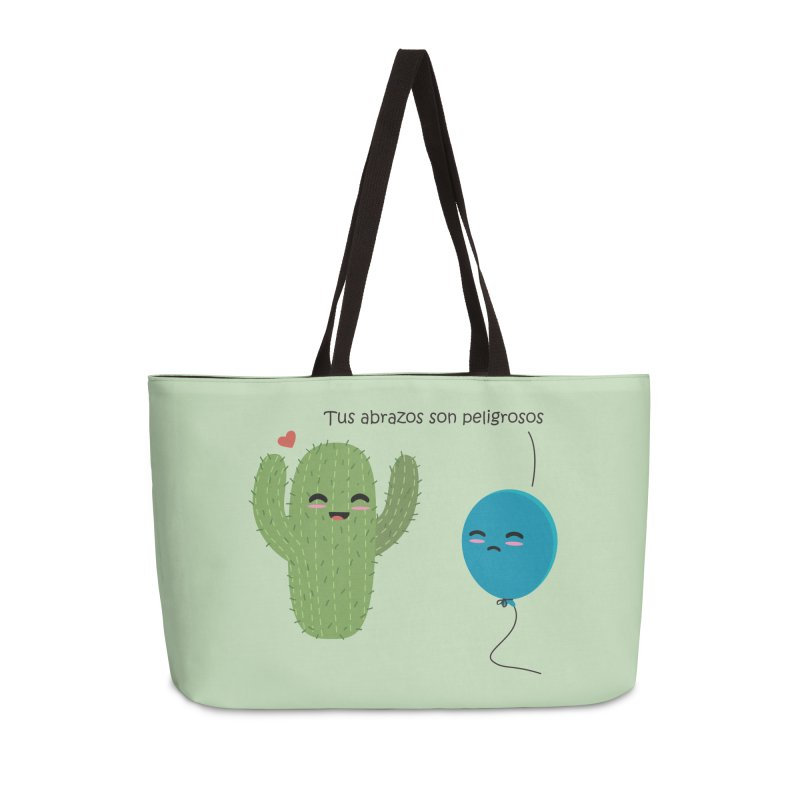 Tus abrazos son peligrosos Accessories Weekender Bag Bag by damian's Artist Shop