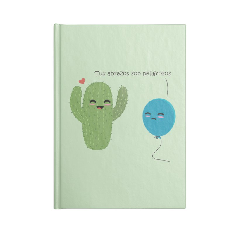 Tus abrazos son peligrosos Accessories Lined Journal Notebook by damian's Artist Shop