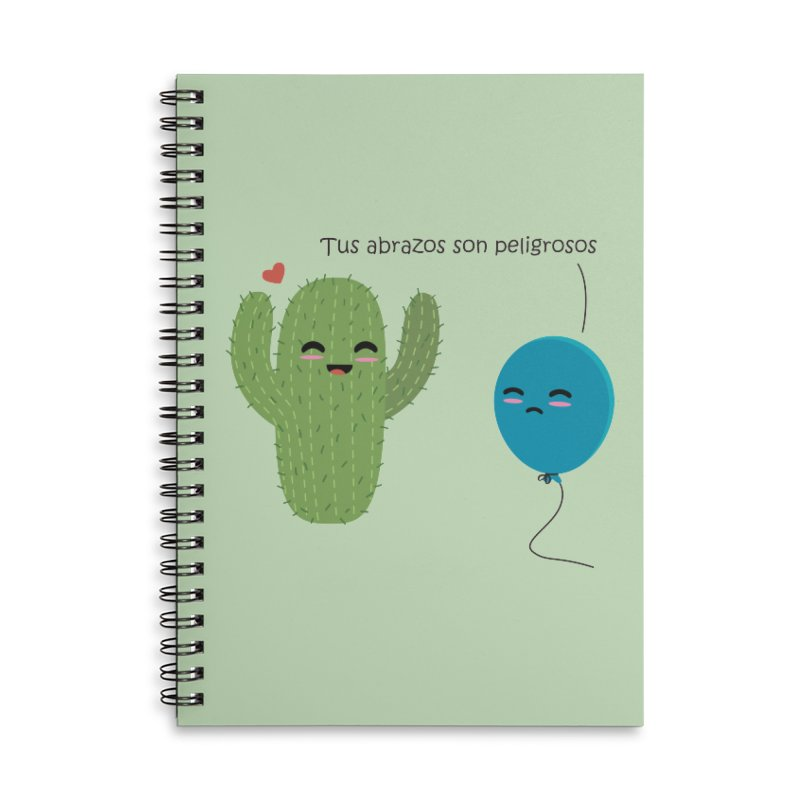 Tus abrazos son peligrosos Accessories Lined Spiral Notebook by damian's Artist Shop