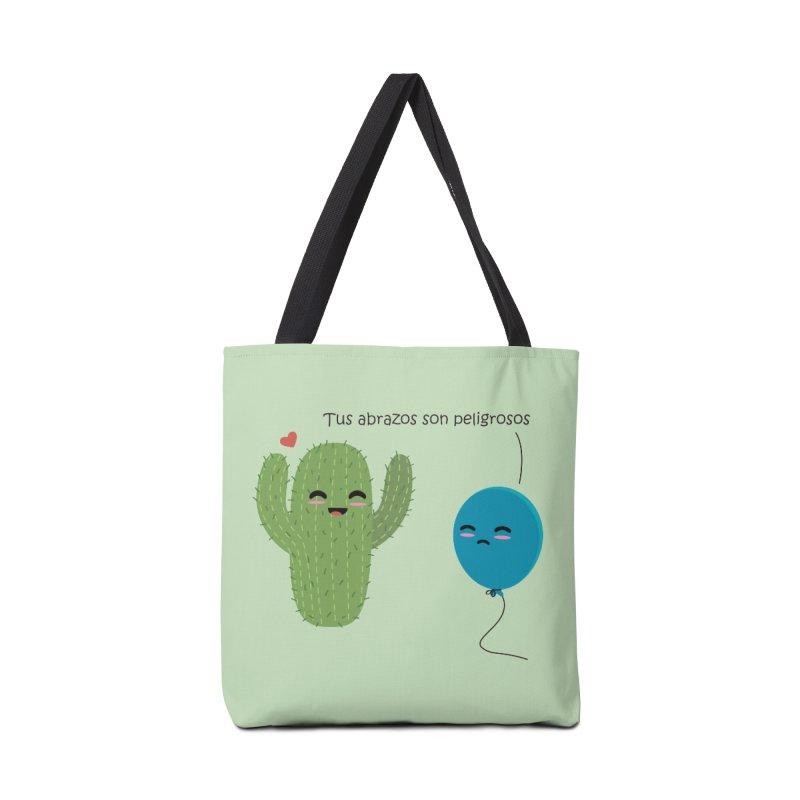 Tus abrazos son peligrosos Accessories Bag by damian's Artist Shop
