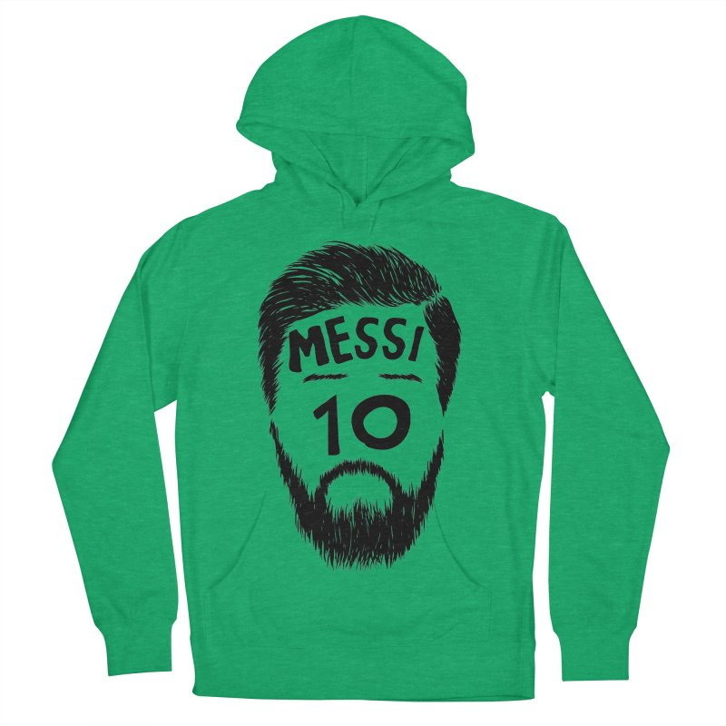 Messi 10 Women's French Terry Pullover Hoody by damian's Artist Shop