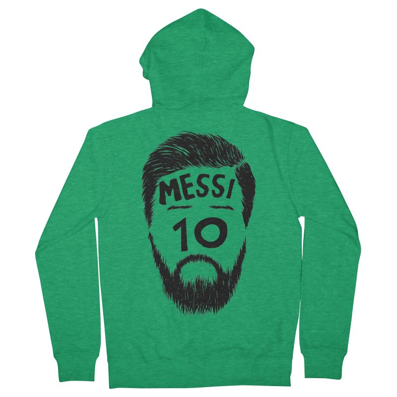 Messi 10 Women's French Terry Zip-Up Hoody by damian's Artist Shop