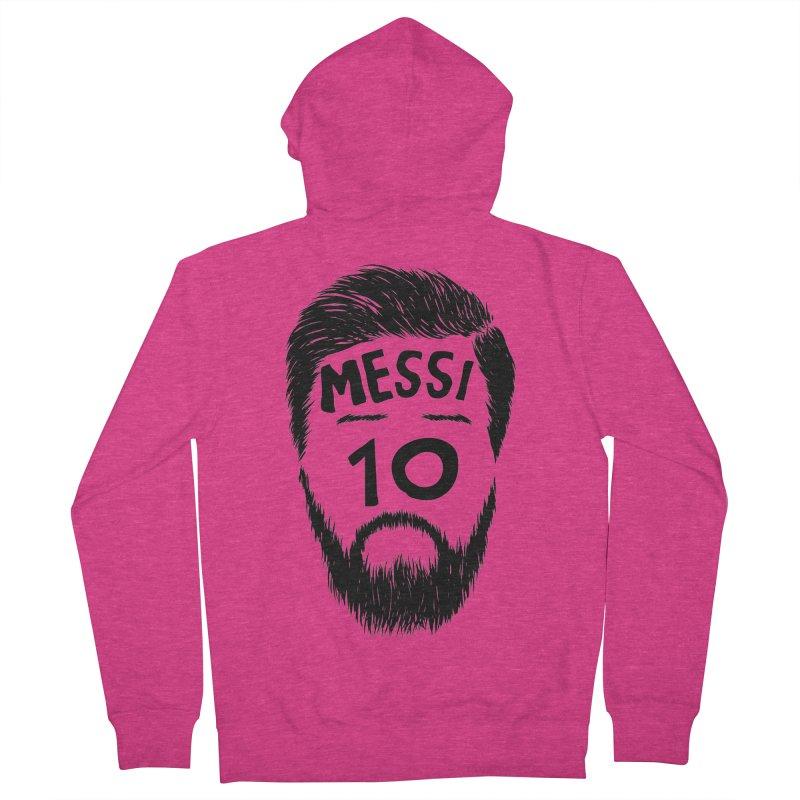 Messi 10 Women's Zip-Up Hoody by damian's Artist Shop