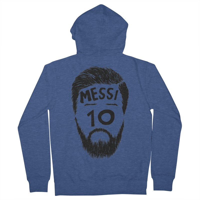Messi 10 Men's French Terry Zip-Up Hoody by damian's Artist Shop