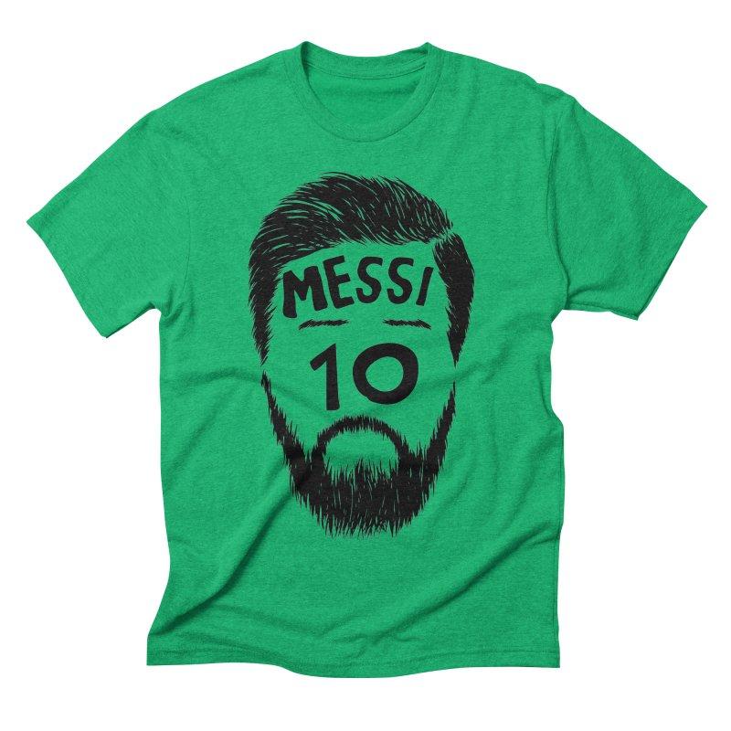 Messi 10 Men's Triblend T-Shirt by damian's Artist Shop