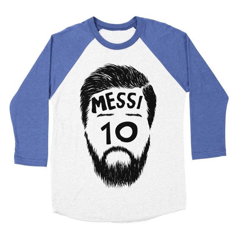 Messi 10 Men's Baseball Triblend Longsleeve T-Shirt by damian's Artist Shop