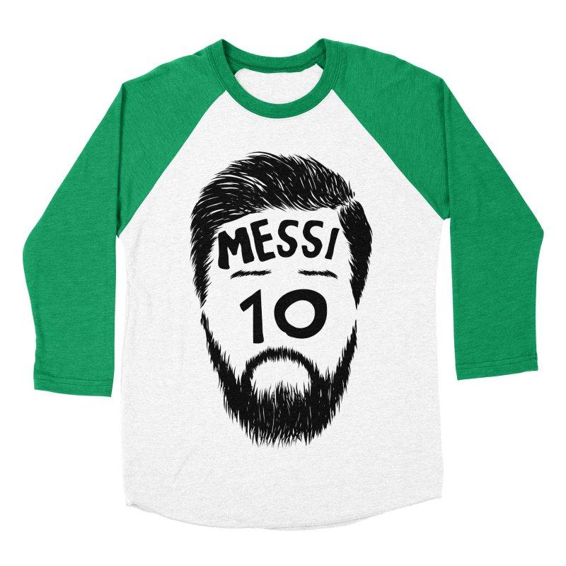 Messi 10 Men's Baseball Triblend T-Shirt by damian's Artist Shop