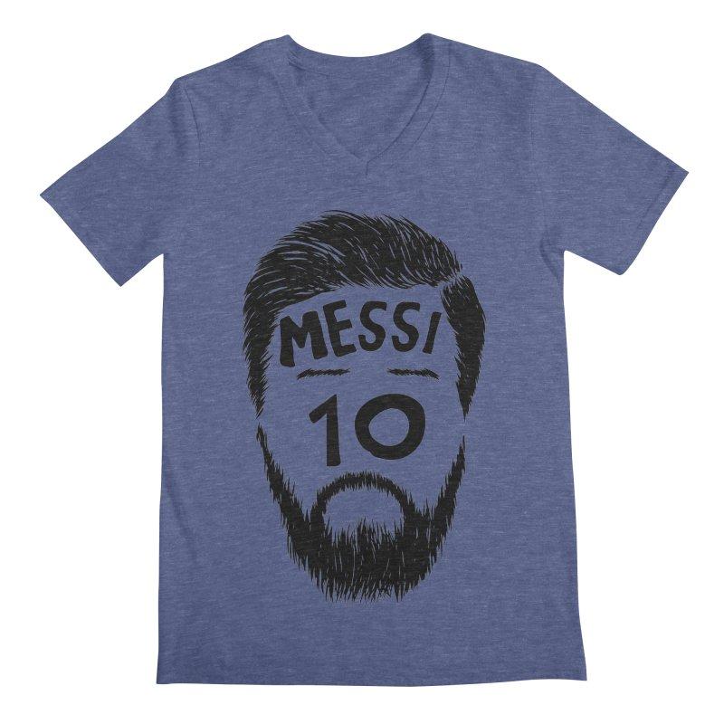 Messi 10 Men's Regular V-Neck by damian's Artist Shop