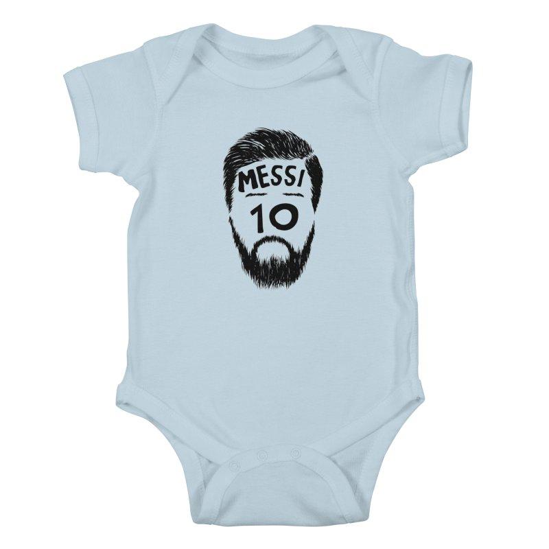 Messi 10 Kids Baby Bodysuit by damian's Artist Shop