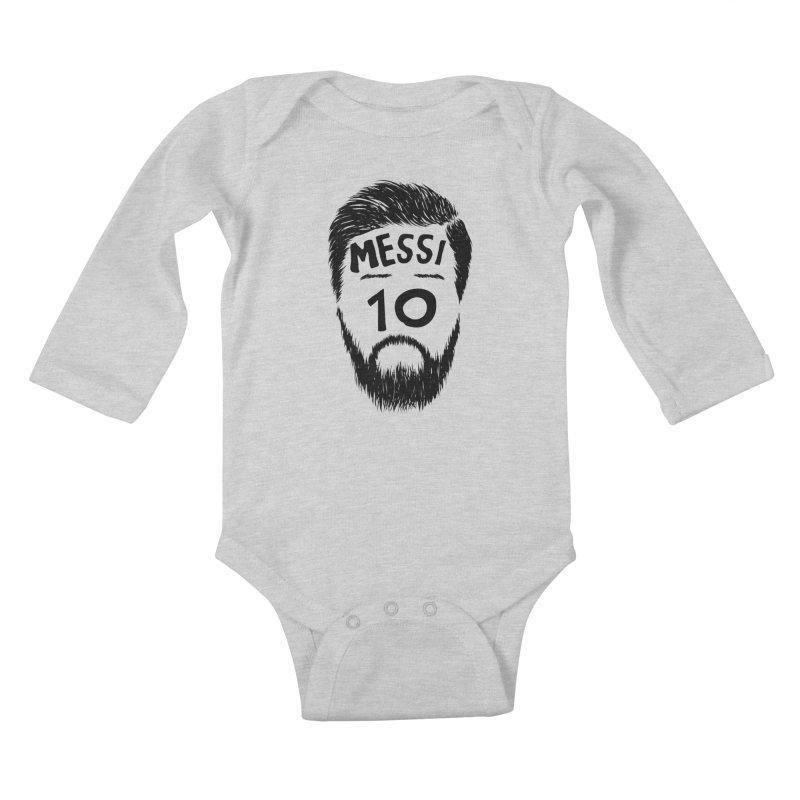Messi 10 Kids Baby Longsleeve Bodysuit by damian's Artist Shop
