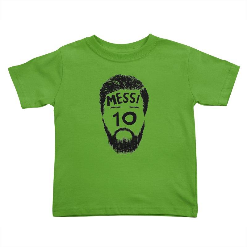 Messi 10 Kids Toddler T-Shirt by damian's Artist Shop