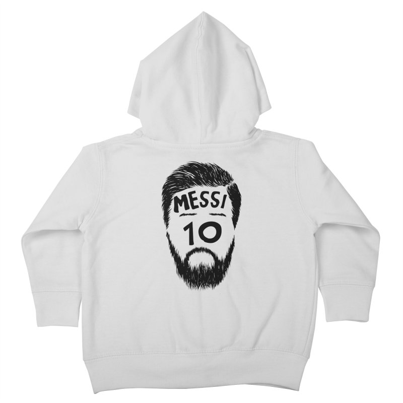 Messi 10 Kids Toddler Zip-Up Hoody by damian's Artist Shop