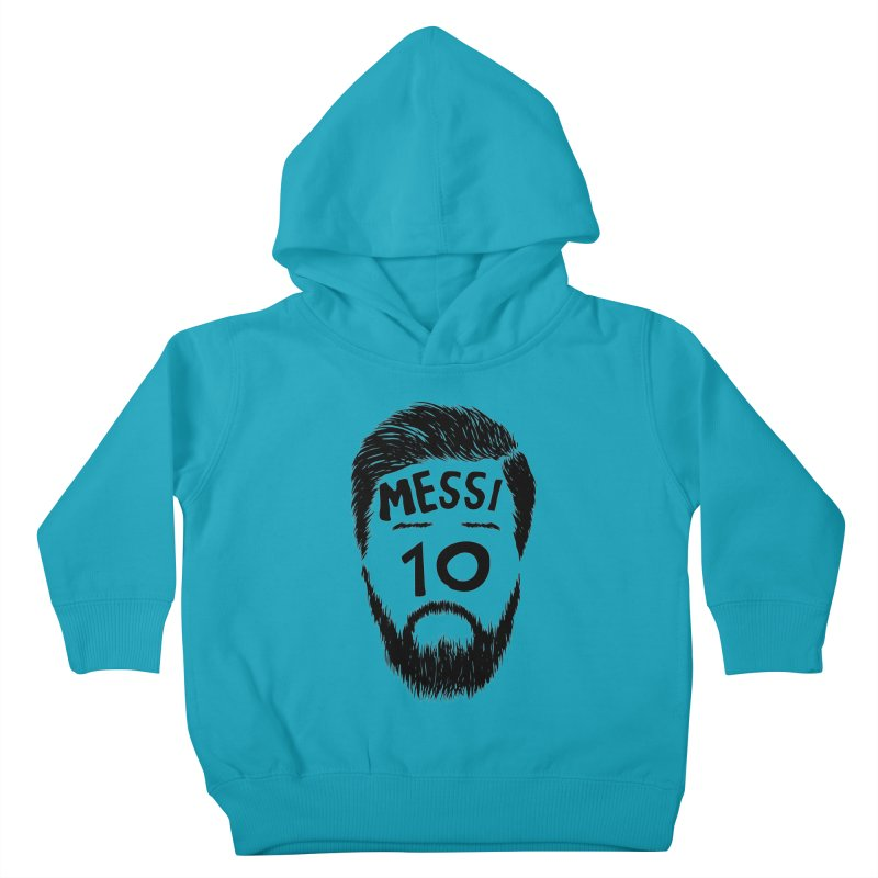 Messi 10 Kids Toddler Pullover Hoody by damian's Artist Shop
