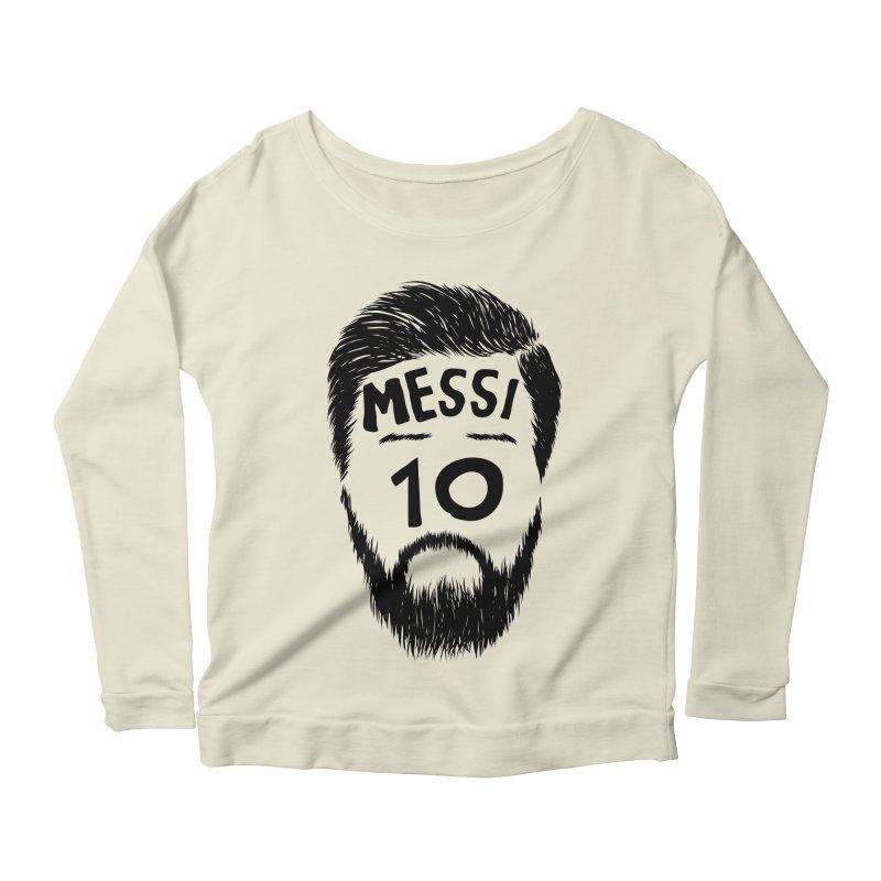 Messi 10 Women's Scoop Neck Longsleeve T-Shirt by damian's Artist Shop