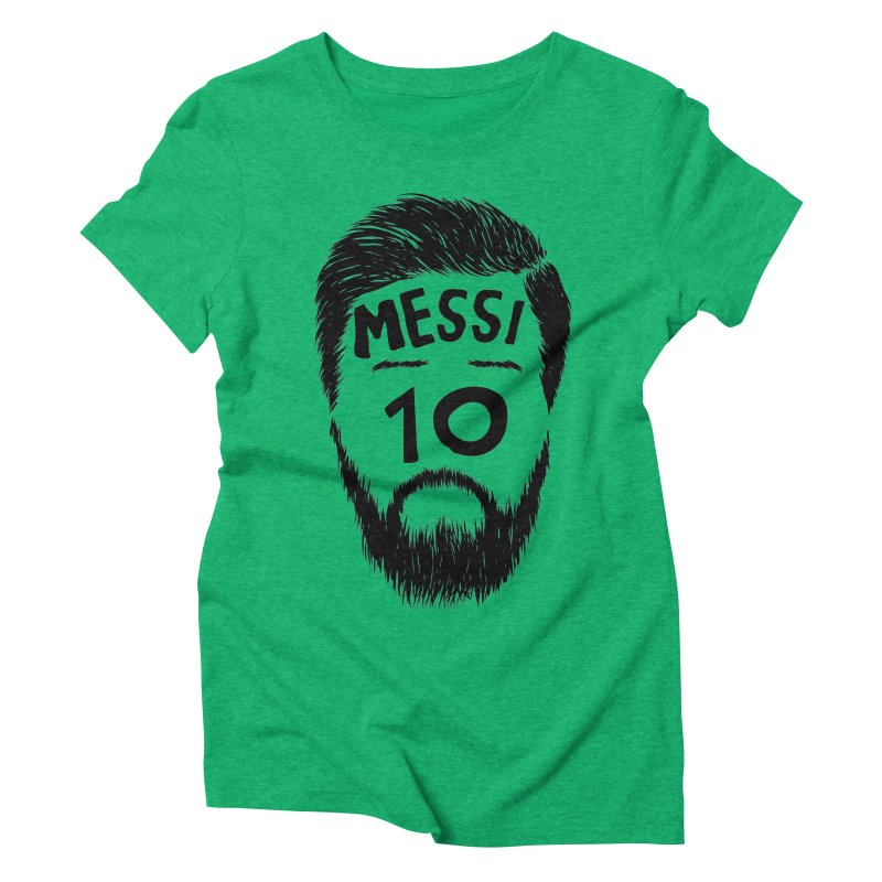 Messi 10 Women's Triblend T-Shirt by damian's Artist Shop