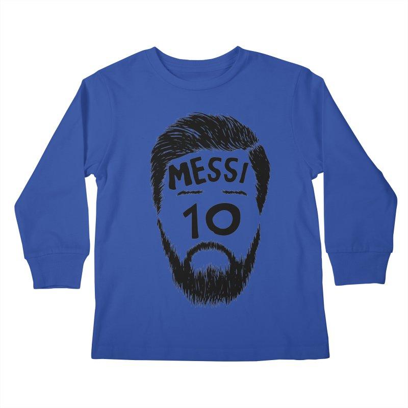 Messi 10 Kids Longsleeve T-Shirt by damian's Artist Shop