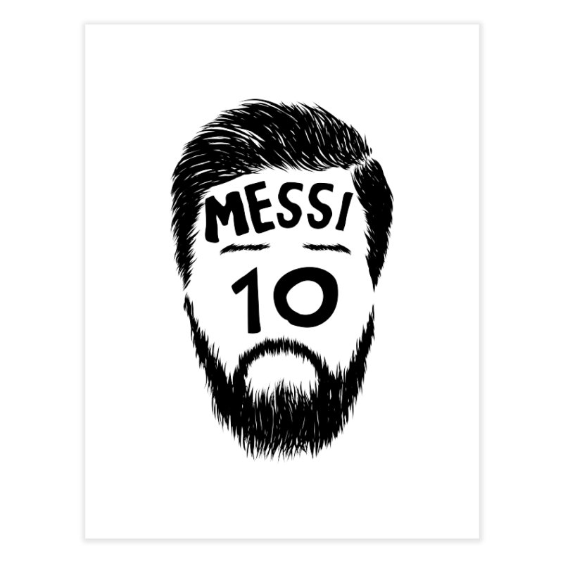 Messi 10 Home Fine Art Print by damian's Artist Shop