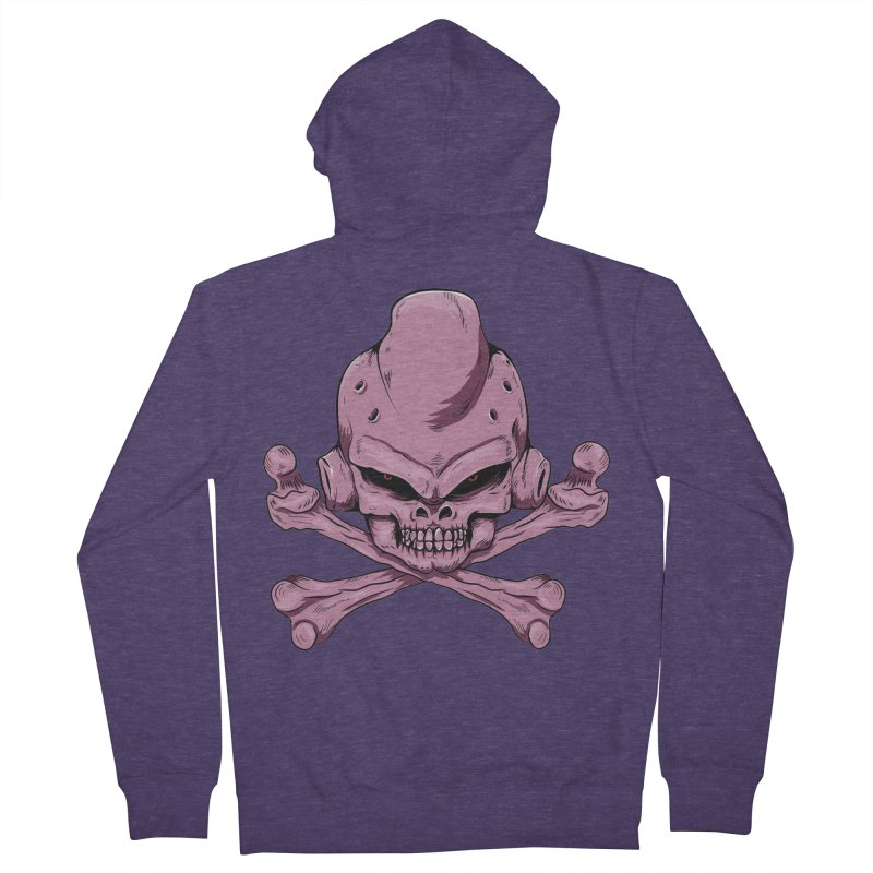 Craneo Boo Men's French Terry Zip-Up Hoody by damian's Artist Shop