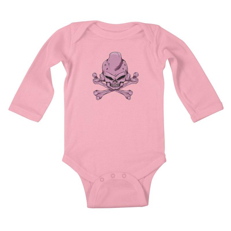 Craneo Boo Kids Baby Longsleeve Bodysuit by damian's Artist Shop