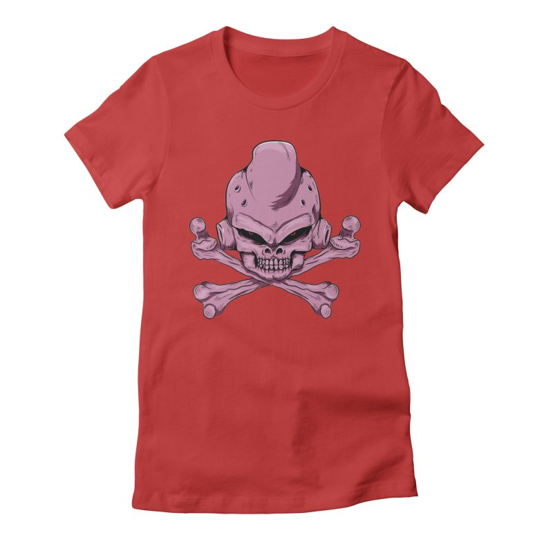 Craneo Boo Women's Fitted T-Shirt by damian's Artist Shop