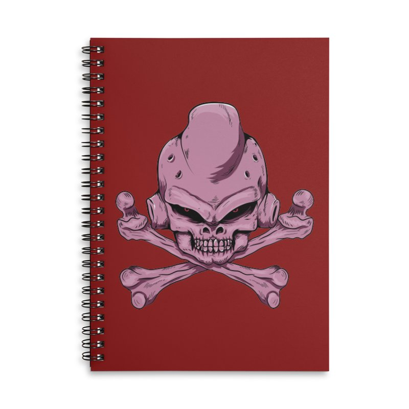 Craneo Boo Accessories Lined Spiral Notebook by damian's Artist Shop