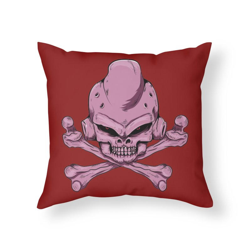 Craneo Boo Home Throw Pillow by damian's Artist Shop