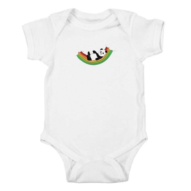 Arcoiris_osoPanda Kids Baby Bodysuit by damian's Artist Shop