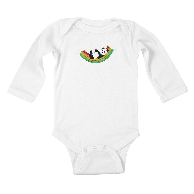 Arcoiris_osoPanda Kids Baby Longsleeve Bodysuit by damian's Artist Shop