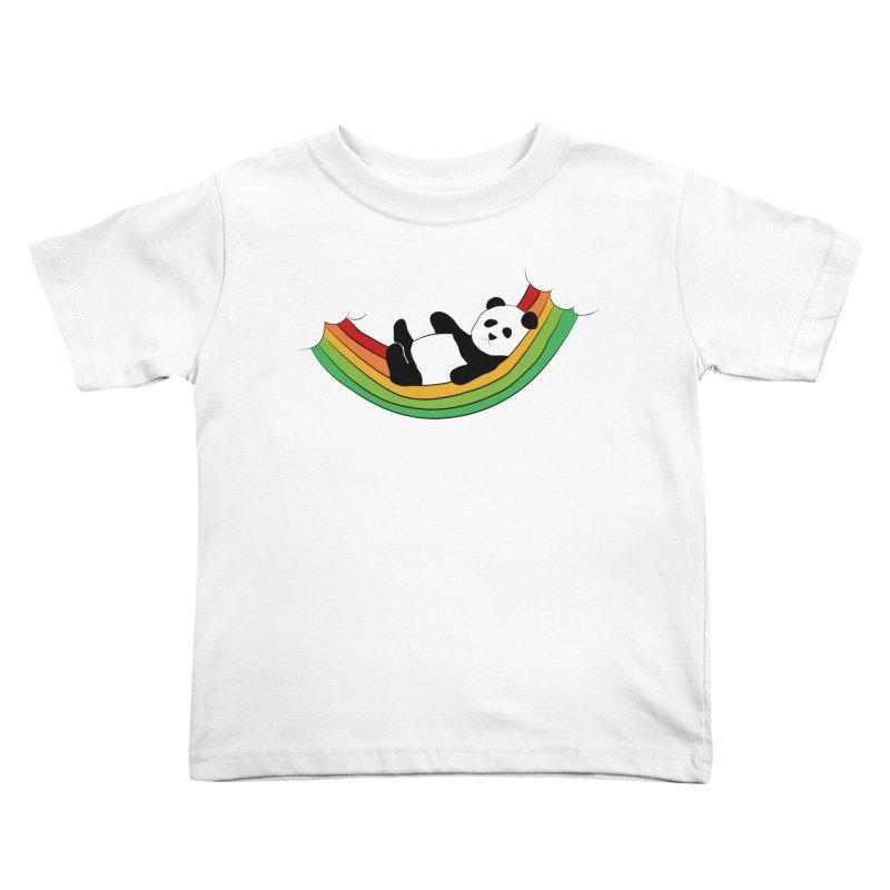 Arcoiris_osoPanda Kids Toddler T-Shirt by damian's Artist Shop