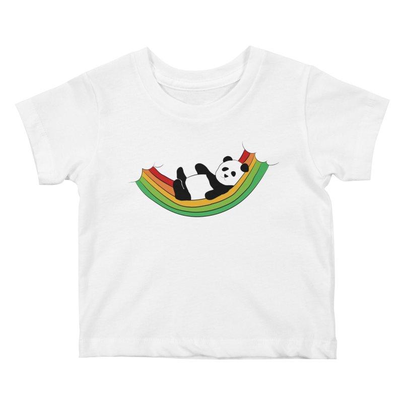 Arcoiris_osoPanda Kids Baby T-Shirt by damian's Artist Shop