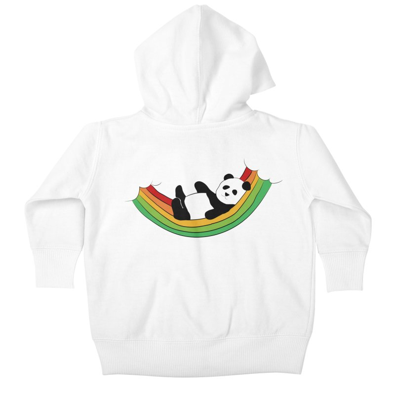 Arcoiris_osoPanda Kids Baby Zip-Up Hoody by damian's Artist Shop