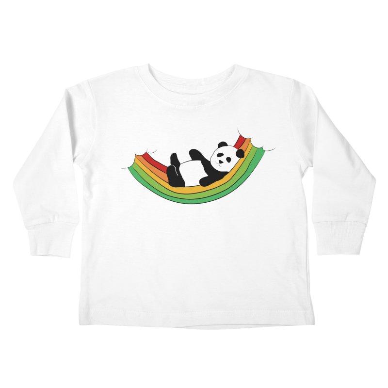 Arcoiris_osoPanda Kids Toddler Longsleeve T-Shirt by damian's Artist Shop