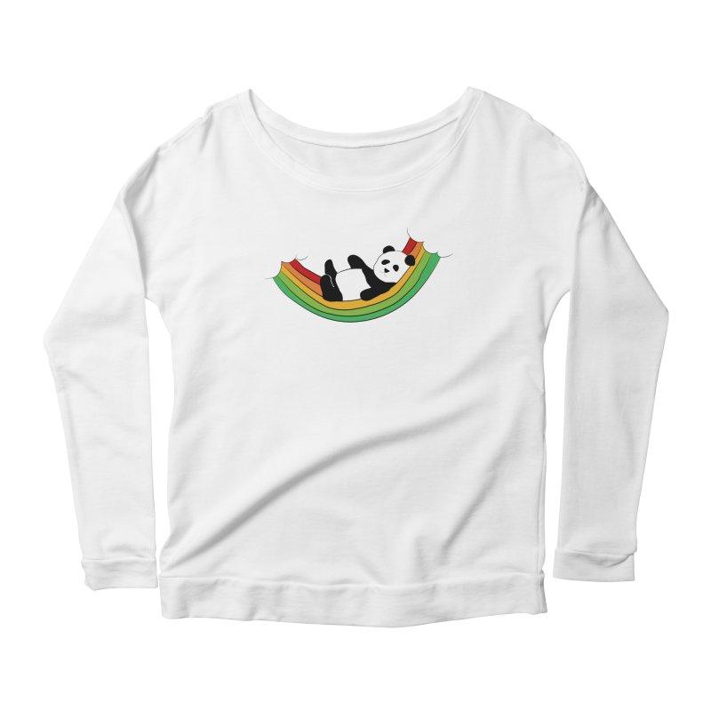 Arcoiris_osoPanda Women's Scoop Neck Longsleeve T-Shirt by damian's Artist Shop