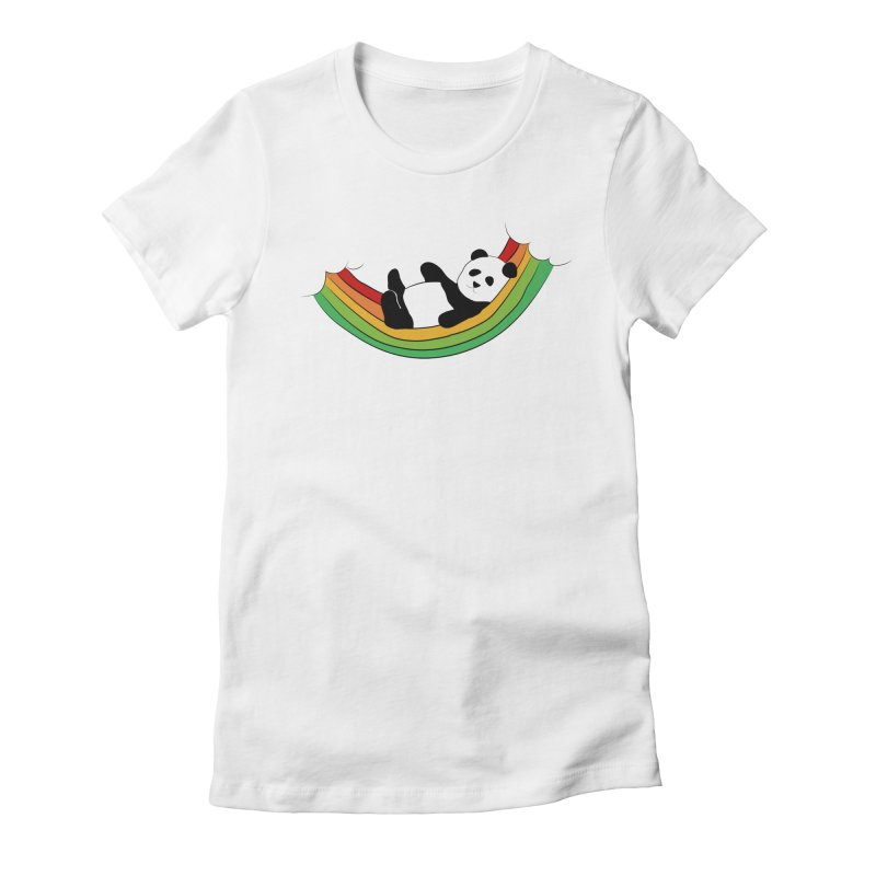 Arcoiris_osoPanda Women's Fitted T-Shirt by damian's Artist Shop