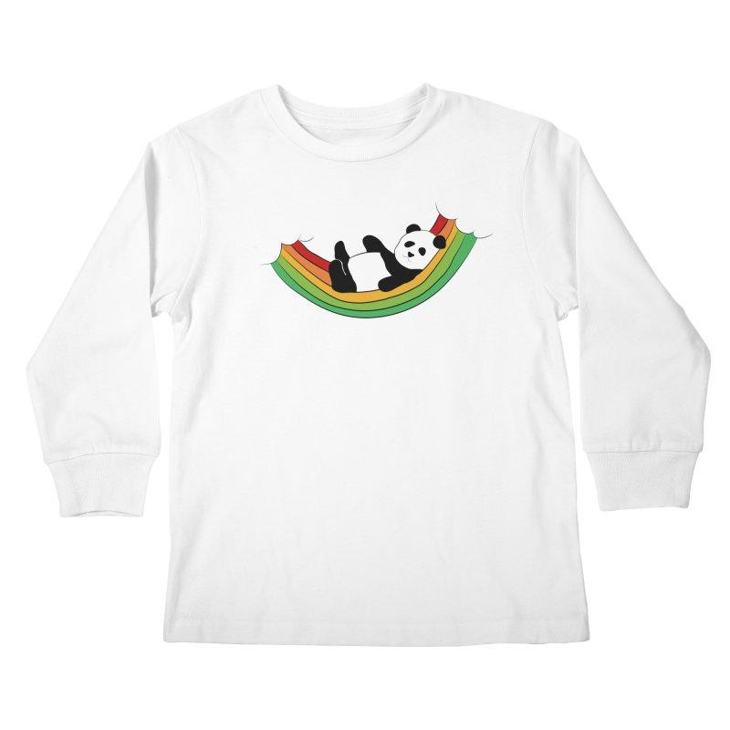 Arcoiris_osoPanda Kids Longsleeve T-Shirt by damian's Artist Shop