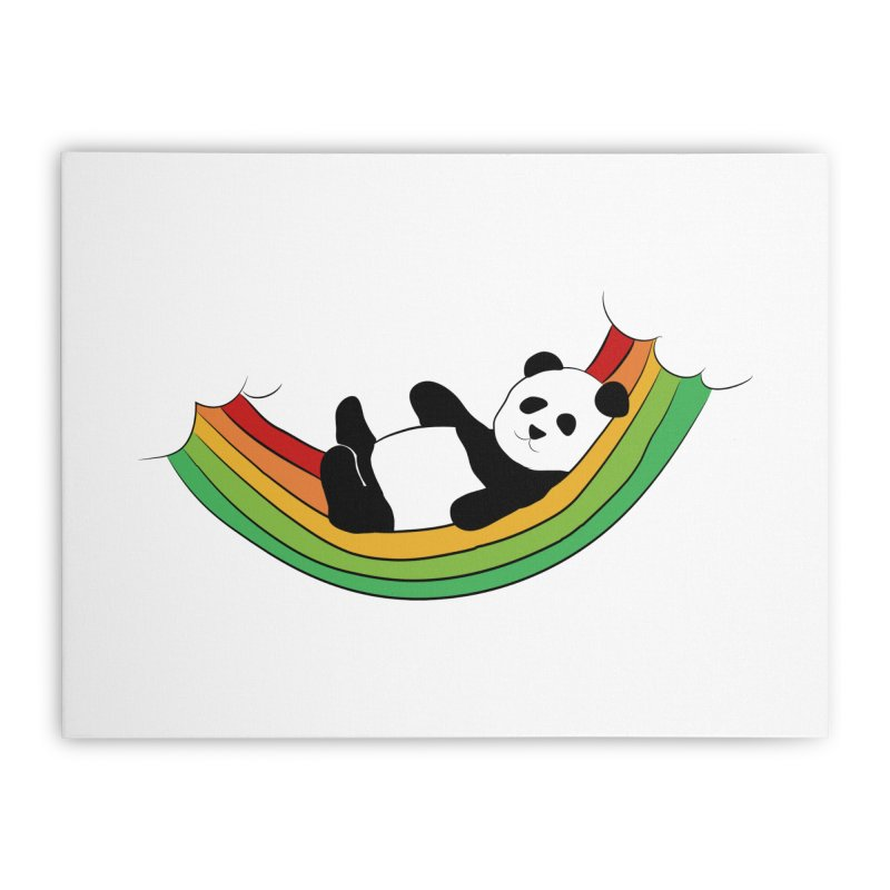 Arcoiris_osoPanda Home Stretched Canvas by damian's Artist Shop