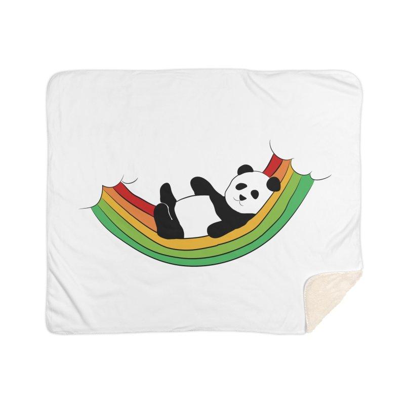 Arcoiris_osoPanda Home Sherpa Blanket Blanket by damian's Artist Shop