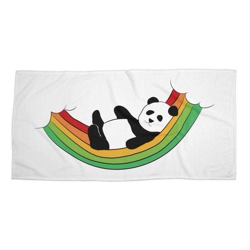 Arcoiris_osoPanda Accessories Beach Towel by damian's Artist Shop