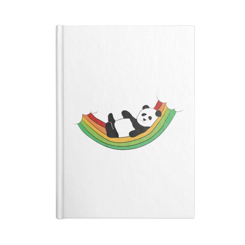 Arcoiris_osoPanda Accessories Lined Journal Notebook by damian's Artist Shop
