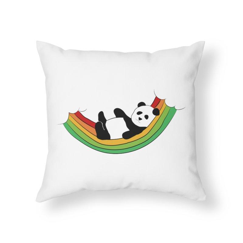 Arcoiris_osoPanda Home Throw Pillow by damian's Artist Shop