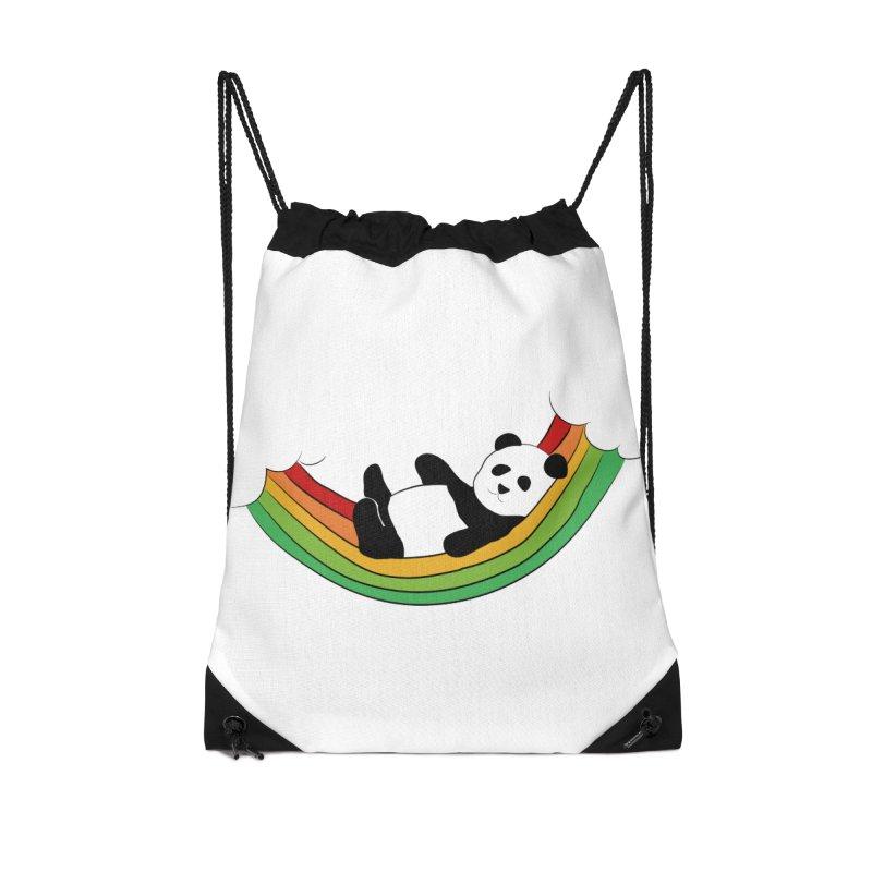 Arcoiris_osoPanda Accessories Drawstring Bag Bag by damian's Artist Shop
